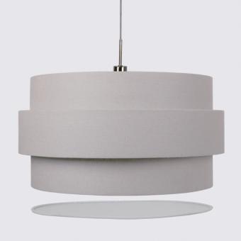 Vandeheg® Hängeleuchte INVENTO 3D Leinen weiß Ø60x200cm max. 60Watt