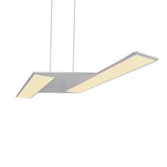 arteLuna® Pendelleuchte ADOT Zett silber Aluminium 560x206x6mm 20W warmweißes Licht