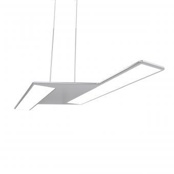 arteLuna® Pendelleuchte ADOT Zett Silber Aluminium 560x206x6mm 20W neutralweißes Licht