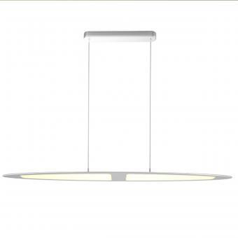 arteLuna® Pendelleuchte ADOT Scow Silber Aluminium 970x140x6mm 28W warmweißes Licht