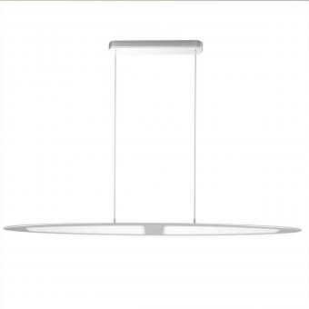 arteLuna® Pendelleuchte ADOT Scow Silber Aluminium 970x140x6mm 28W neutralweißes Licht