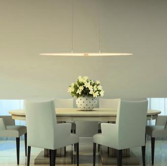 arteLuna® Pendelleuchte ADOT Scow bronzegold Aluminium 970x140x6mm 28W warmweißes Licht