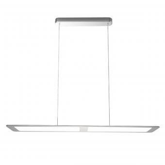 arteLuna® Pendelleuchte ADOT One Silber Aluminium 935x120x6mm 28W neutralweißes Licht