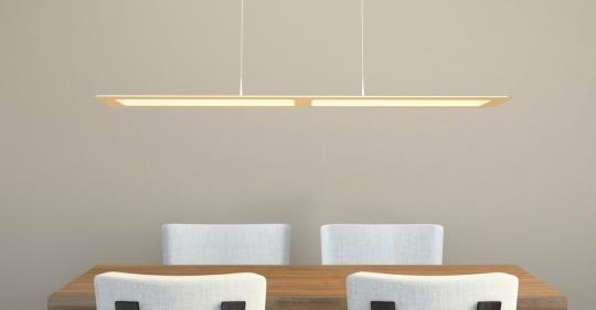arteLuna® Pendelleuchte ADOT One bronzegold Aluminium 935x120x6mm 28W warmweißes Licht