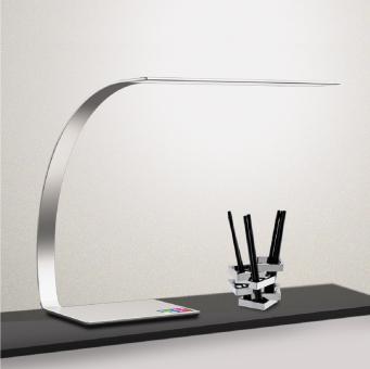 arteLuna® Tischleuchte ADOT Ray Silber Aluminium 350x250x343mm 14W dimmbar und Lichtfarbe veränderbar