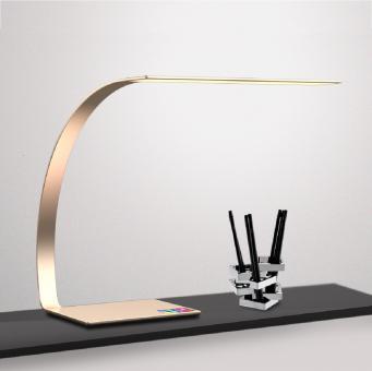 arteLuna® Tischleuchte ADOT Ray bronzegold Aluminium 350x250x343mm 14W dimmbar und Lichtfarbe veränderbar