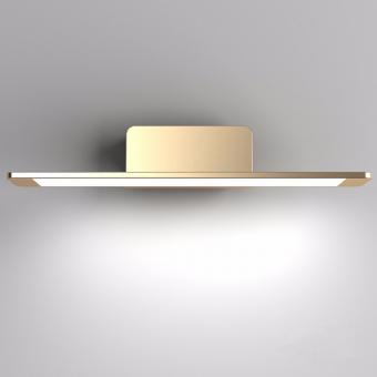 arteLuna® Wandleuchte ADOT Spy bronzegold Aluminium 400x150x85mm 10W neutralweißes Licht