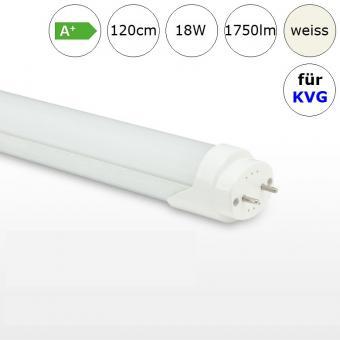 LED Röhre Tube 18W 120cm neutralweiss 4000K 1750lm RA>70 für Leuchten mit KVG