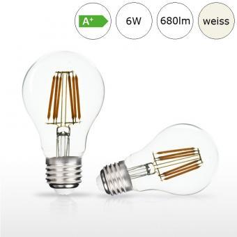 LED-Glühfadenlampe E27 6W 60x105mm neutralweiss 4000K 680lm