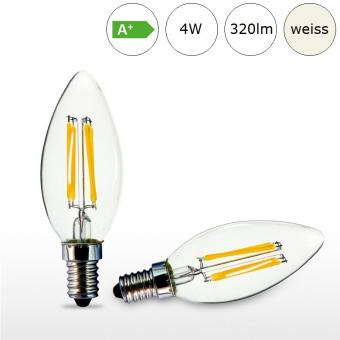 LED-Glühfadenlampe E14 4W 35x97mm neutralweiss 4000K 320lm