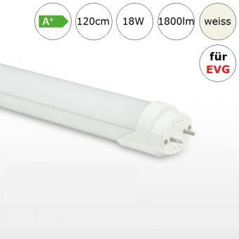 LED Röhre Tube 18W 120cm neutralweiss 4000K 1800lm RA>80 für Leuchten mit EVG