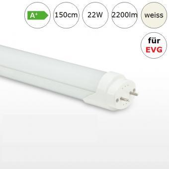 LED Röhre Tube 22W 150cm neutralweiss 4000K 2200lm RA>80 für Leuchten mit EVG