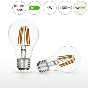 LED-Glühfadenlampe E27 AGL-Form 4W 60x105mm neutralweiss 4000K 460lm dimmbar