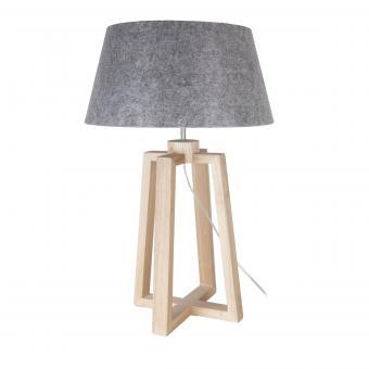Vandeheg® Tischleuchte LASSE GREY Holz/Filzschirm grau Ø 40 x H 65 cm max. 60 Watt