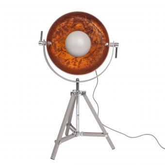 Vandeheg® Tischleuchte COPPER SUN zementgrau/kupfer Ø 40 cm max. 60Watt