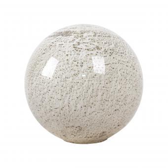 Vandeheg® Tischleuchte VOLCANO WEIß Glas weiß marmoriert Ø35cm max.40Watt