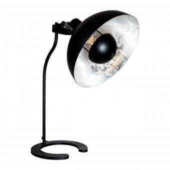 Vandeheg® Tischleuchte PURE SILVER schwarz matt/silber Ø30cm H55cm max.60Watt