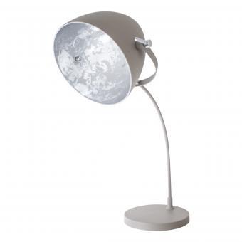 Vandeheg® Tischleuchte CONCRETE SUN EGG grau/silber Ø30cm H72cm max. 60Watt