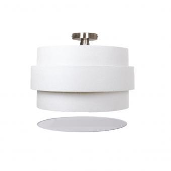 Vandeheg® Deckenleuchte INVENTO 3D Leinen weiß Ø40x30cm max. 60Watt