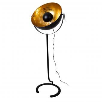Vandeheg® Stehleuchte PURE GOLD schwarz matt/gold Ø60cm H160cm max.60Watt