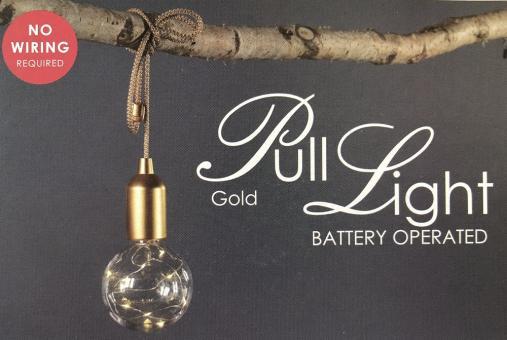 Decostar LED Leuchte Kenan gold Ø10cm H19cm 9xLED Batteriebetrieben