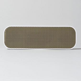 KREAFUNK aGroove weiß Bluetooth 3.0 Lautsprecher mit DER-Standard-Stereo-Technik 2,8x20cm inkl. Holzbox