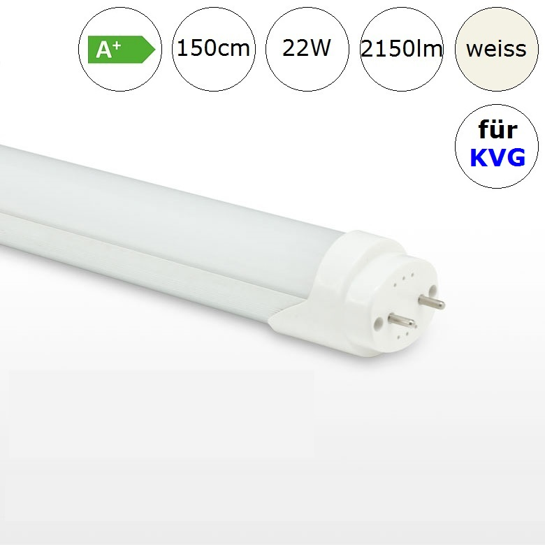 lampenhelden led r hre tube 22w 150cm neutralweiss 4000k 2150lm ra 70 f r leuchten mit kvg. Black Bedroom Furniture Sets. Home Design Ideas