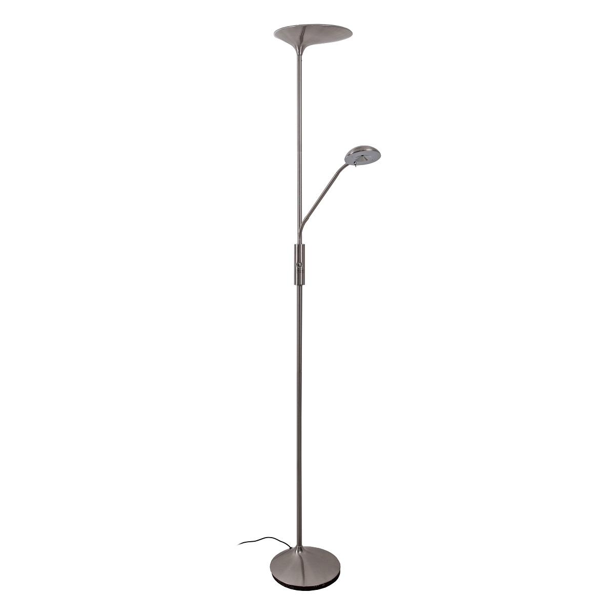 VandehegR LED Stehleuchte COURCE DOUBLE Eisen Satiniert O50x179cm 24Watt