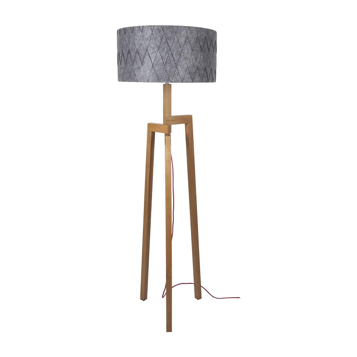 lampenhelden vandeheg stehleuchte aleo grey holz filz 50 x h175cm max 60 watt online kaufen. Black Bedroom Furniture Sets. Home Design Ideas