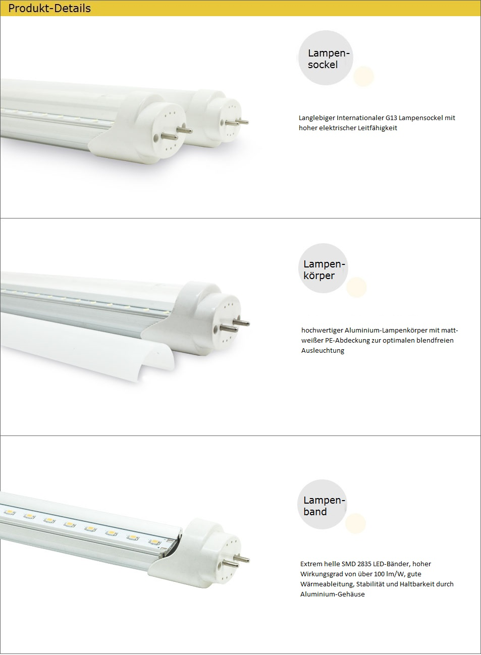 lampenhelden led r hre tube 18w 120cm neutralweiss 4000k 1800lm ra 80 f r leuchten mit evg. Black Bedroom Furniture Sets. Home Design Ideas