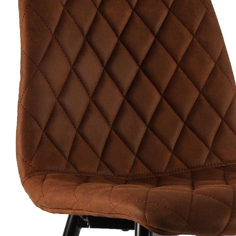 Decostar Esszimmer Stuhl Wale Kunstleder gesteppt schwarzbraun L45xB51xH85cm