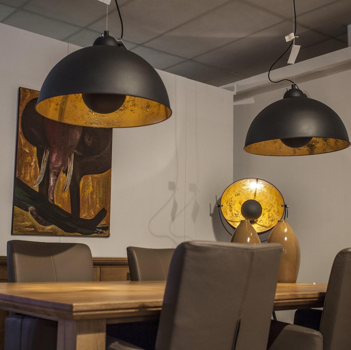 lampenhelden vandeheg stehleuchte golden sun schwarz gold 54 cm max 60watt online kaufen. Black Bedroom Furniture Sets. Home Design Ideas
