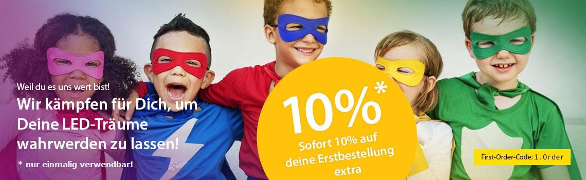 10 % first-order-Gutschein